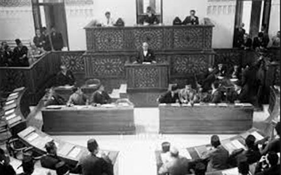 صورة بيان موافقة مجلس النواب السوري على الوحدة السورية – المصرية