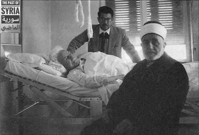 الشيخ محمد بهجت البيطار يزور الرئيس فارس الخوري في مشفى المجتهد 1960