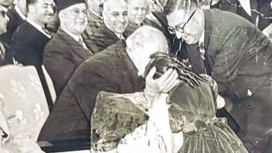 صورة شكري القوتلي في افتتاح مدرسة جول جمال في دمشق عام 1958
