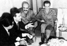 صورة صلاح جديد، أحمد المير، مصطفى طلاس، ومحمد رباح الطويل، عام 1969