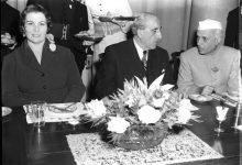 صورة زيارة الرئيس شكري القوتلي الى الهند 1957