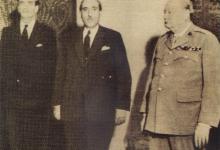 صورة شكري القوتلي وتشرشل 1945