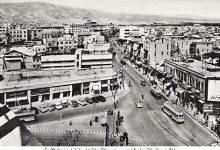 صورة شارع فؤاد الأول من جسر فكتوريا باتجاه بوابة الصالحية أواخر الخمسينات