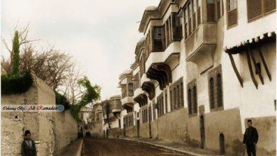حي الصالحية و دمشق في بداية القرن العشرين