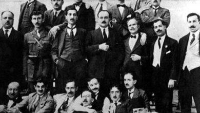 أعضاء الجمعية العربية الفتاة في دمر قرب دمشق عام 1919