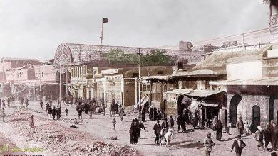 دمشق: جادة الدرويشية إبان تنظيم المنطقة عام 1918