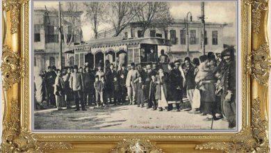 أول حافلة ترام بلجيكية الصنع تسير بدمشق عام 1907