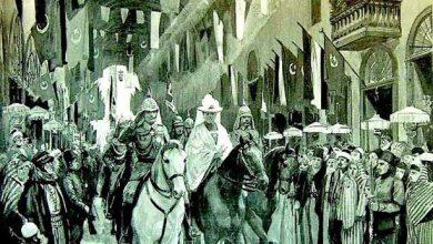 صورة دمشق – الإمبراطور الألماني فيلهلم الثاني في سوق البزورية