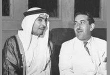 صورة الأمير حسن الأطرش مع الأمير فواز الشعلان