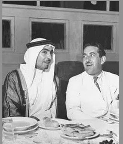 الأمير حسن الأطرش مع الأمير فواز الشعلان