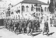 صورة كتيبة فرنسية داخل مدينة دمشق 1920م
