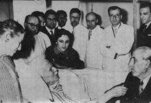 صورة شكري القوتلي يزور فارس الخوري في مشفى المجتهد