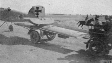 صورة طائرة ألمانية أُسقطت في الصحراء السورية