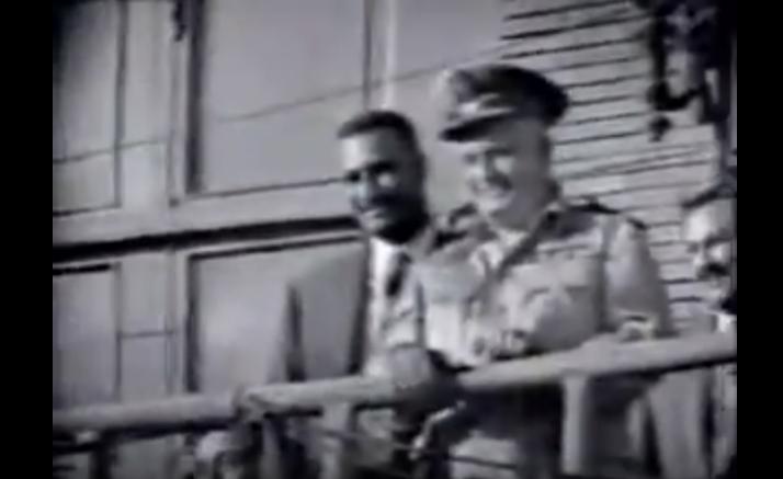 كلمة جمال عبد الناصر حول الانفصال في سوريا بحضور قائد الجيش الأول جمال الفيصل