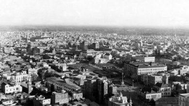 صورة جوية لدمشق عام ١٩٣٥، باتجاه جنوبي شرقي