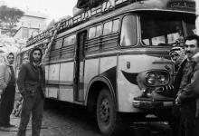 صورة حمص عام 1965 : حافلة ركاب داخل كراج باليقا وسط مدينة حمص..