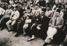 صورة زعماء الكتلة الوطنية في دمشق مع زعماء العراق في بداية الثلاثينيات