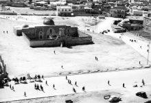 صورة حلب: جامع السلطانية في محيط قلعة حلب أربعينات القرن العشرين