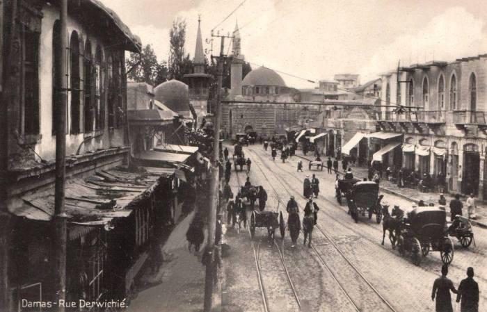 دمشق: شارع الدرويشية عشرينات القرن العشرين