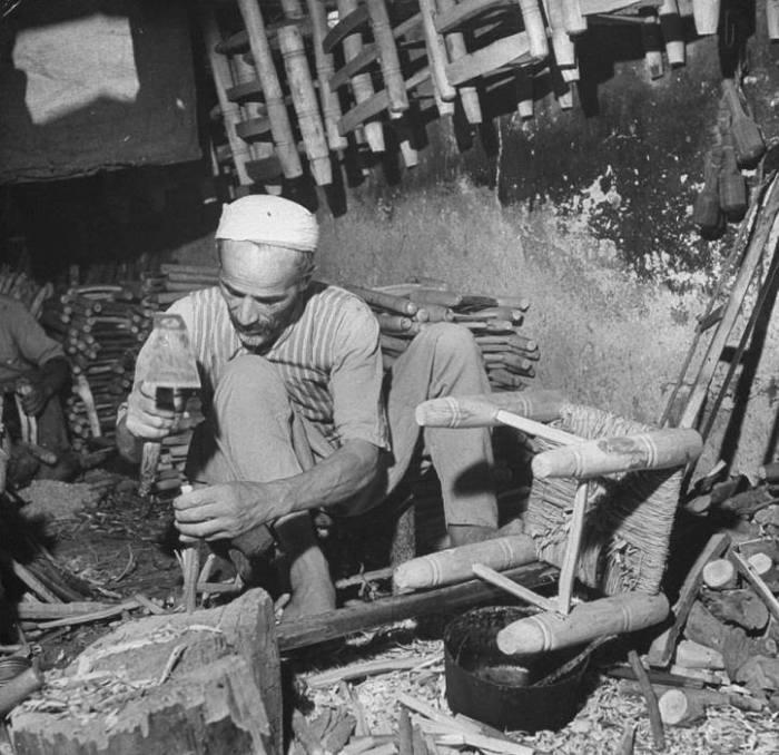 دمشق: صناعة الكراسي الخشبية