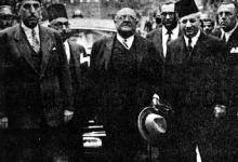 صورة شكري القوتلي في بيروت عام 1944 مع الرئيس اللبناني