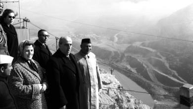 صورة شكري القوتلي وعقيلته في الهند 1957