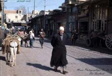 صورة دمشق 1958- جادة بين الحواصل بمحلة العمارة البرانية …