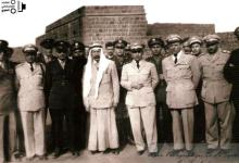 صورة سلطان باشا الاطرش مع أديب الشيشكلي في السويداء 1950