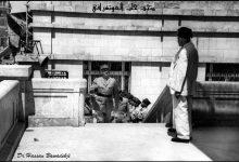 صورة ديغول يصعد درج فندق بارون في حلب 1942