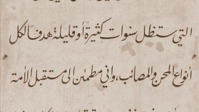 صورة كلمة يوسف العظمة قبل يوم من استشهاده