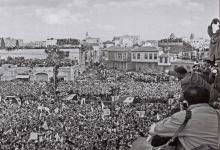 صورة جمال عبد الناصر في حمص بمناسبة عيد الوحدة