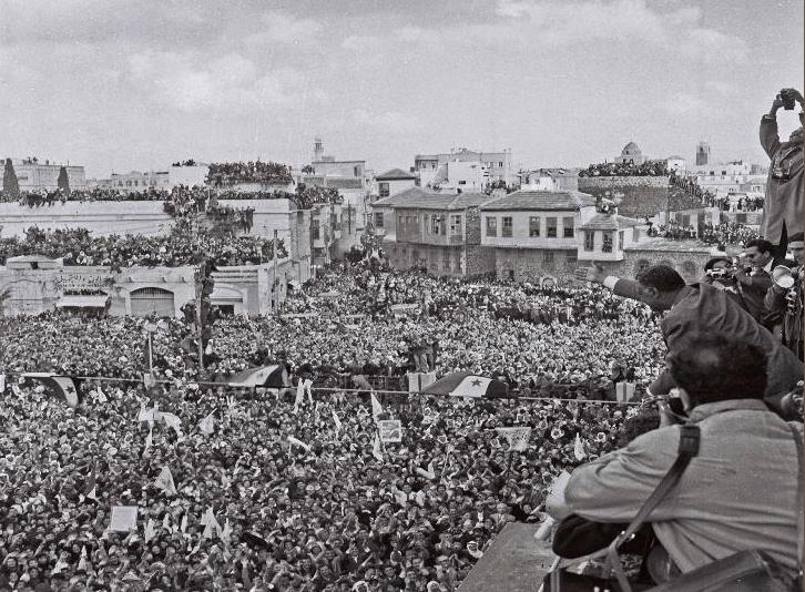جمال عبد الناصر في حمص بمناسبة عيد الوحدة
