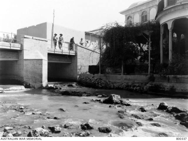 جسر على بردى في دمر استخدم كمستشفى للقوات الاسترالية في العام 1918
