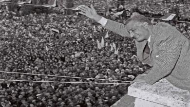 جمال عبد الناصر في حمص عام 1960 بمناسبة عيد الوحدة