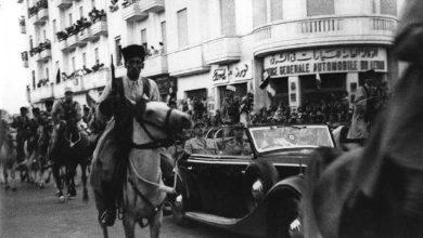 صورة موكب ديغولفي حلب 1942م