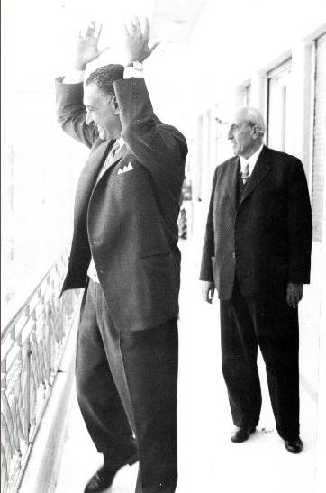 جمال عبد الناصر وشكري القوتلي 1958