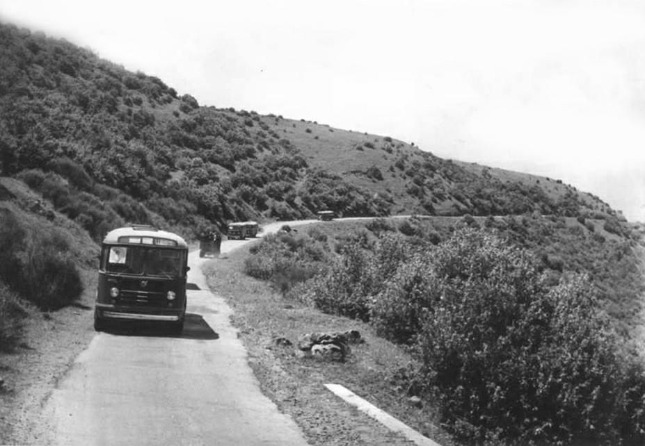 طريق بانياس مسعدة مروراً بجباتا الزيت في القطاع الشمالي للجولان