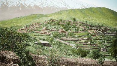 صورة منظر عام لجبل الشيخ من قرية راشيا اللبنانية  1862