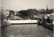 صورة صورة ملونة لنهر بردى و جسر فيكتوريا عام 1870
