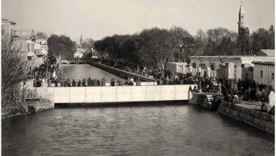 صورة نقية لنهر بردى و جسر فيكتوريا عام 1870