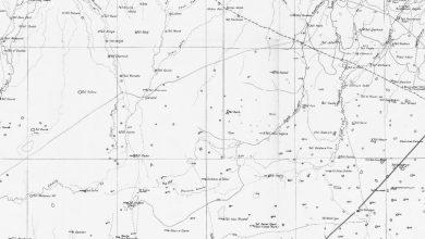 صورة أسماء التلال التي كانت معروفة على الخارطة الجغرافية في منطقة الجزيرة السوريّة 1932