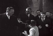 صورة جمال عبد الناصر وتيتو في حلب في 1959