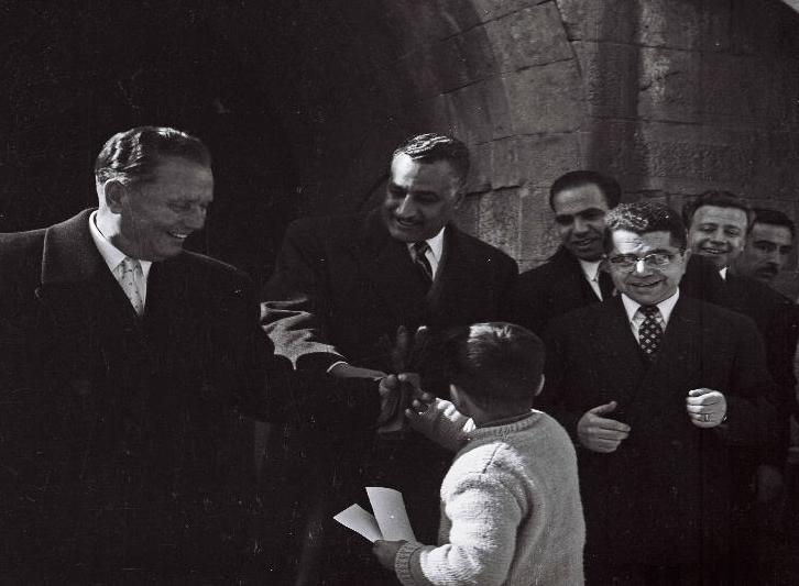 جمال عبد الناصر وتيتو في حلب في 1959