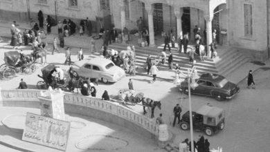 دمشق 1953- مدخل محطة الحجاز