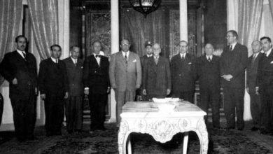 حكومة صبري العسلي في القصر الجمهوري آذار 1954