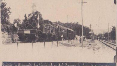 صورة وصول الجنرالغوروإلى دمشق عبر القطار 1920