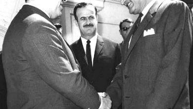 جمال عبد الناصر والرئيس نور الدين الأتاسي