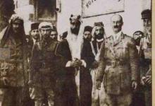 صورة دخول القوات البريطانية – العربية دمشق في تشرين الأول 1918