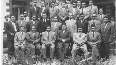 صورة الهيئة التعليمية لثانوية المعري (التجهيز الثالثة) بحلب 1950- 1951