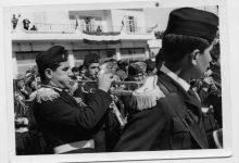 صورة الفرقة السريانية في القامشلي خلال الاحتفال بذكرى الاستقلالعام 1956